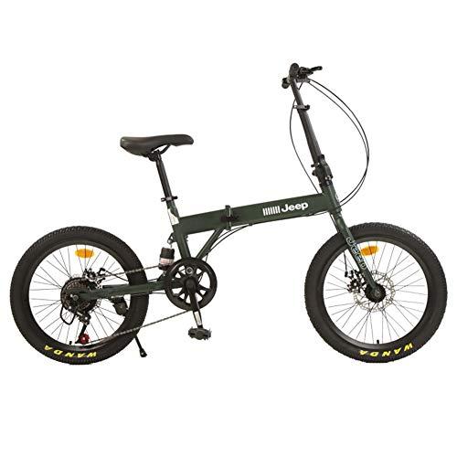 MIAOYO Clásico Portátil Bicicleta Plegable, Choque-Absorbente Frenos Disco Commuter Road Bike para Adultos, Velocidad Variable Plegable Bicicleta De La Ciudad,20'