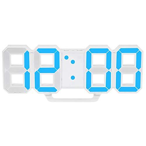MeterMall CE LED Wandklok Wekker Digitale 3D Woonkamer Explosie Modellen Elektronische Klok blauw