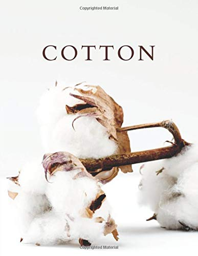 Cotton: A Decorative Book │ Perfect for Stacking on Coffee Tables & Bookshelves │ Customized Interior Design & Home Decor (Neutral Tones)