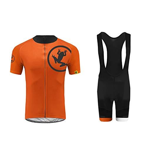 UGLY FROG Ropa de ciclismo de hombre,  camiseta de manga corta + pantalones cortos,  cojín de gel 9D,  moda,  juego completo,  secado rápido,  transpirable