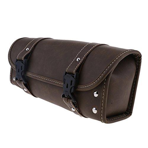 Tubayia Motorrad Satteltasche Motorradtasche Werkzeugtasche Gepäckrolle für Harley Motorräder (Braun # 4)