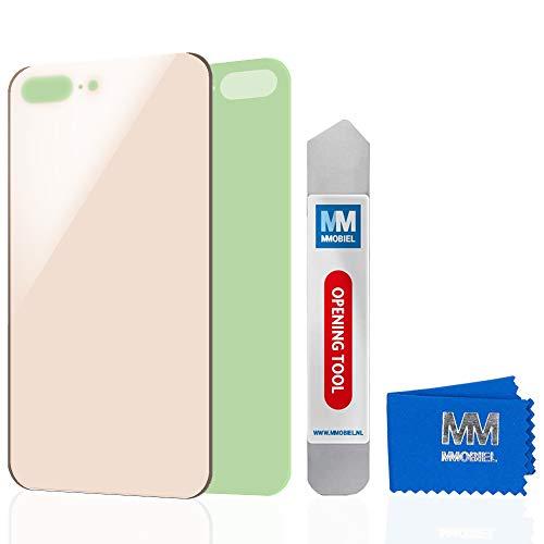 MMOBIEL Cubierta de batería para Parte Trasera (Incl. Vidrio) de iPhone 8 Plus (Oro) 5.5 Pulgadas. Parte de reemplazo Incl. Adhesivo pre-Instalado