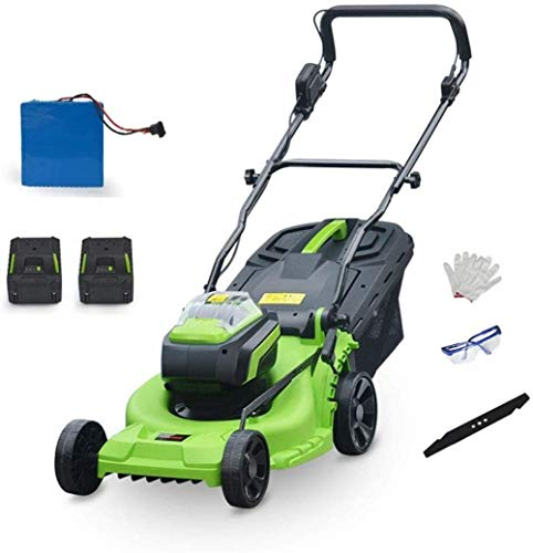 Cordless Push Lawn Mower, Brushless Rotary Lawnmower, 6 Adjustable Mower Height, Adjustable and Foldable Handlebar, with Lithium‑Ion Battery & Fast Charger