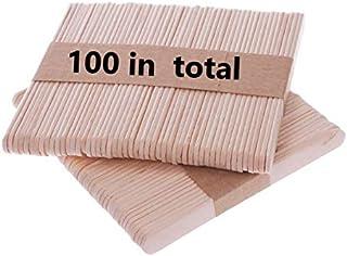 Bochang Kaishuai Baton de Glace,Lot de100 bâtons de Sucette géante,crème glacée bâtons en Bois Naturel pour Loisirs créati...