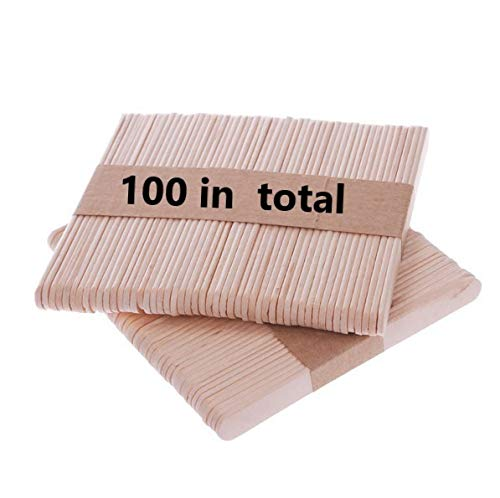 Bochang Kaishuai 100 Stücke eisstiele,ausholz,eisstiele,Holzstiele,Holzstäbchen,Kreative DIY Eiscreme Stick Schokolade Gefrorenes Dessert EIS am Stiel Tablett Kuchenformen Lutscher Sticks balsaholz