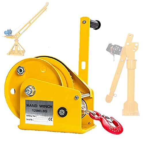 ZPCSAWA 1200 LB Cabrestante Manual hasta 500kg 8m 4:1 Polipasto Manual Torno...