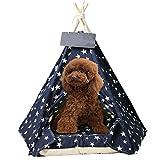 ZZeng RS Casa de tienda de campaña para mascotas, tipi para perro, gato, perro, extraíble, lavable, grueso, para gatos, carpas, portátil, para interiores y exteriores (M 50 x 50 x 60 cm), B)