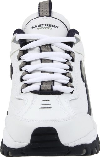 Skechers Sport Men's Energy Afterburn Lace-Up Sneaker,White/Navy,8 XW US 7