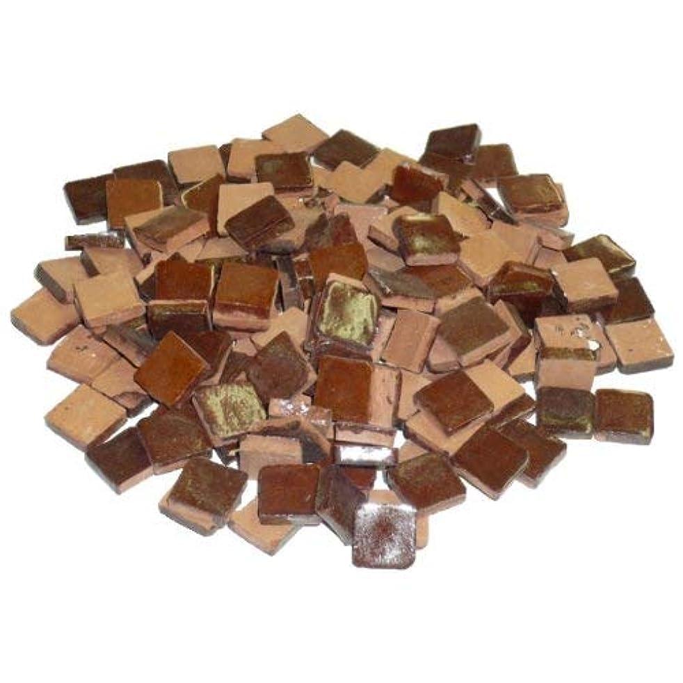 Mosaix 10 x 10 x 3 mm 70 g 150-Piece Ceramic Glazed Mosaic Tiles, Brown