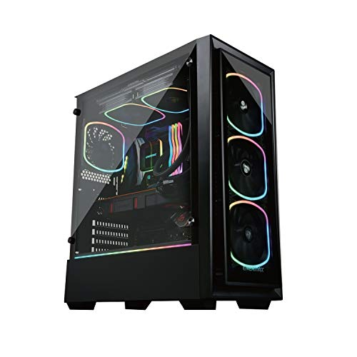 Enermax Starryfort SF30 Addressable RGB ARGB Mid Tower Gaming PC Case Tempered Glass Per-Installed A-RGB Fans (X4), ECA-SF30-M1BB-ARGB