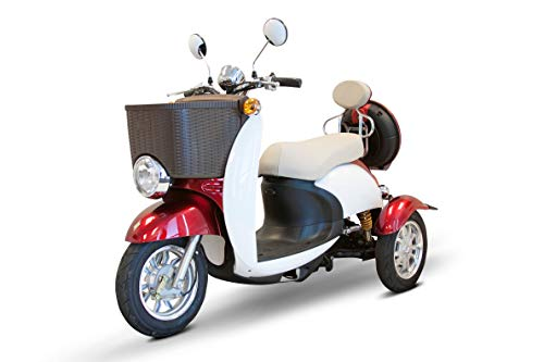 Discover Bargain E-Wheels - EW-11 Sport Euro Type Scooter - 3-Wheel - Red/White