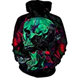 para Hombre Mujer Sudaderas 3D del cráneo de impresión de Hip Hop con Capucha Urbana Informal suéter con Capucha Mens Hoodies S