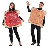 Amscan 844269-55 - Juego de 2 disfraces de pareja, diseño de mantequilla de cacahuete y mermelada, multicolor, talla única , color/modelo surtido