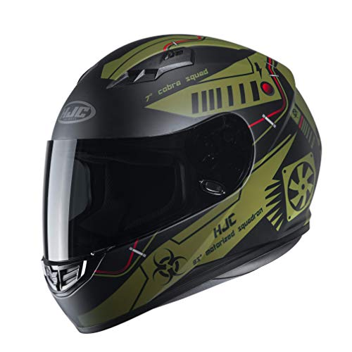 Casco moto HJC CS 15 TAREX MC45SF, Nero/Verde, M
