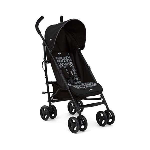 Joie Nitro Baby Stroller Pushchair Lightweight Stroller Baby Buggy with Raincover - Waves Caviar Joie This Baby Stroller Colour is Waves Caviar Suitable from birth - 15kg Includes raincover Made with 100% premium highest quality materials, this ride has been made to last. Sleek and lightweight umbrella chassis Multi-position, flat reclining seat is suitable from birth Easy and compact fold and convenient carry handle This Baby Buggy Multi-position calf support gives two comfy options Ergonomic foam handles UPF 40+ sun canopy, removable and adjustable hood 1