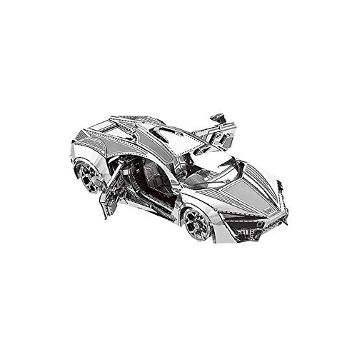 Xuelifra 3D Metal zusammengebaute Modelle DIY Puzzles, DIY Model Kit 3D Metall Puzzle Erwachsene Kinder Technik Spielzeug Metallbausatz Kreative Handwerk Geschenk - Sportwagen Desktop-Dekoration
