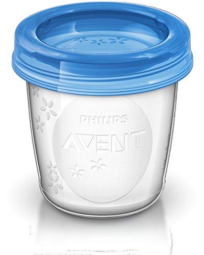 Copos para Armazenamento de Leite Materno 180 ml, Philips Avent, 10 peças, Transparente