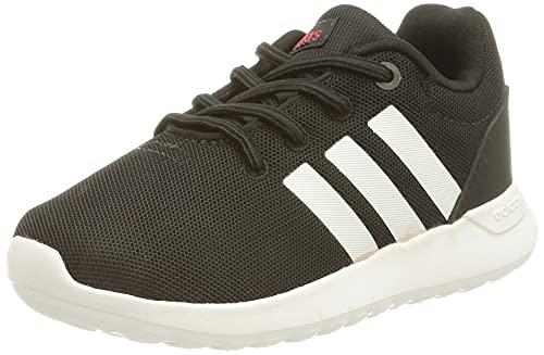 adidas Lite Racer CLN 2.0, Road Running Shoe, Core Black/Cloud White/Scarlet, 27 EU