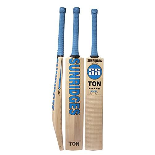 SS Retro Royal English Willow Cricket bat, Short Handle' Men's Size (with Double Grip bat Handle)