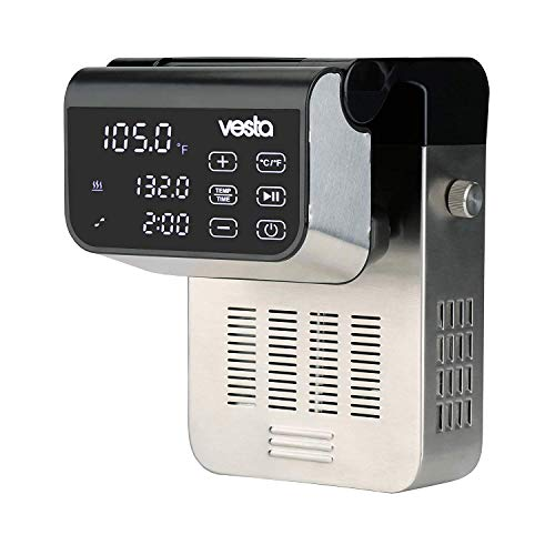 Sous Vide Precision Cooker by Vesta Precision - Imersa Expert   Powerful Pump Design   Accurate, Stable Temperature Control   Wi-Fi App Control   Touch Panel   50 Liters   1500 Watts