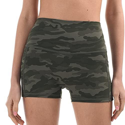 Corumly Pantalones Cortos Casuales para Mujer Pantalones Cortos de Yoga para Gimnasio Pantalones Cortos cómodos Delgados para Correr con Levantamiento de Cadera de Secado rápido XL