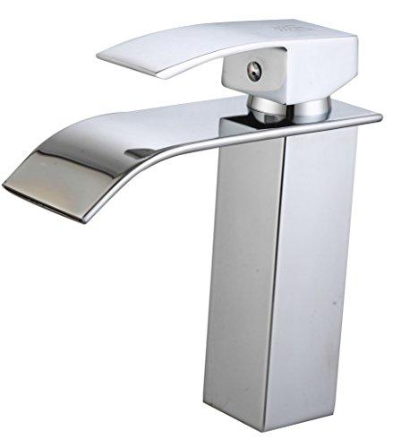 DP Grifería - Grifo monomando de lavabo efecto cascada, modelo Eneldo