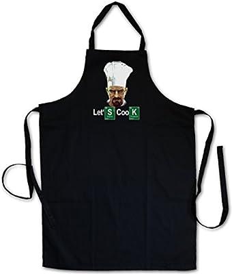 Urban Backwoods Let´S Cook Chef GRILLSCHÜRZE Küchenschürze KOCHSCHÜRZE SCHÜRZE - Breaking Walter Hausfrau Housewife White Meth Heisenberg TV Bad Girl