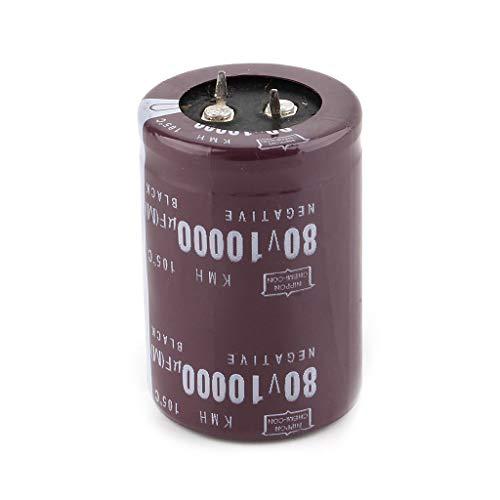 Xuebai 35x50mm 80V 10000uF Condensador electrolítico Filtro Condensador de Corriente para Amplificador de Audio Condensador electrolítico