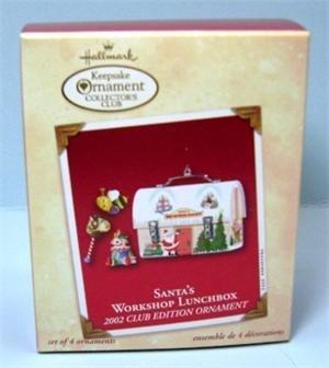 Hallmark Club Exclusive Keepsake Ornament Santa's Workshop Lunchbox 2002 -  hallmark cards inc
