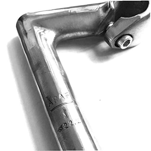Silver Bicycle Stem Aluminum Alloy Handlebar Extender Bicycle Fork Stem Handlebar Riser Bike Head Up Raiser Basic Handle Cycling Accessory 25.4mm multifunctional tools
