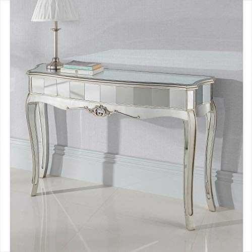 homesdirect365 Argente Mirrored Console Table
