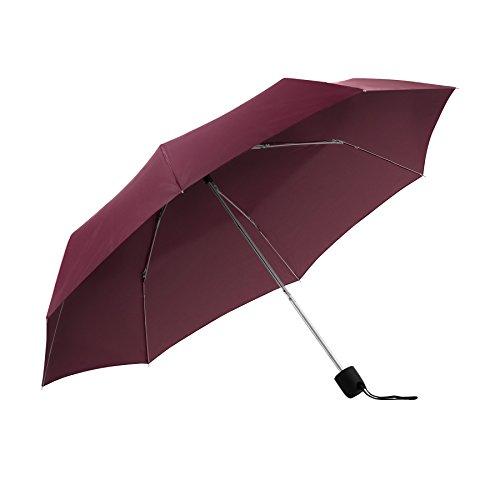 ShedRain Umbrellas Rain Essentials Manual Compact, Burgundy, One Size