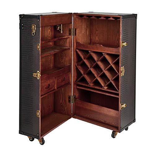 BUTLERS Hemingway Barschrank – Antike Kofferbar mit Weinregal - 2