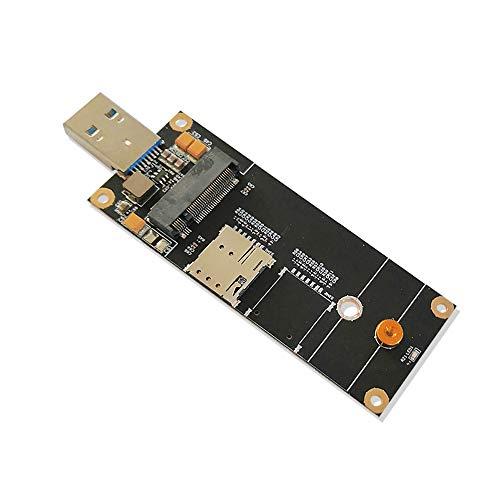 EXVIST 5G LTE Industrial M.2 (NGFF) a USB3.0 Adattatore W/NANO SIM Card Slot Per Modulo 5G LTE Come Quectel RM500Q ecc Applicabile per M2M & IoT Applicazioni Come Raspberry Pi Router Industriale ecc.