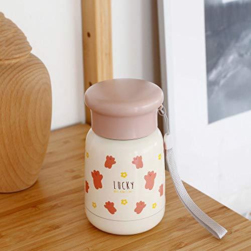 LBHH Mini Botella de Agua Linda Botellas de Agua de Acero Inoxidable aisladas al vacío Frasco de Bebida a Prueba de Fugas Mantener Caliente y frío para el hogar al Aire Libre Viajes Mujeres Escuela