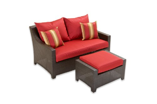 Hot Sale RST Outdoor OP-PELOVOT-CAN-K Cantina Love Seat and Ottoman