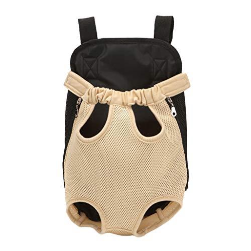 WanYanng Rucksack für Haustier,Atmungsaktiv Hunderucksack für Kleine Leichter Wanderrucksack Faltbare Dog Carrier für Spaziergänge, Geeignet für Metro Outdoor 4# beige 41 * 25 cm