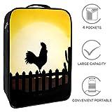 Bennigiry Gallo Silhouette con Sunrise borsa da viaggio organizer portatile per scarpe da ...