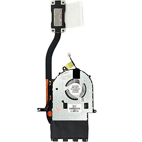 (con disipador de calor versión 2) Ventilador de refrigeración compatible para HP Pavilion x360 15-br013ng, 15-br071ng, 15-br001ng, 15-br032ng, 15-br010ng