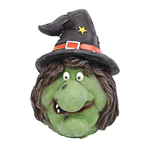 PRETYZOOM Halloween bruja cara cara cubierta miserante cara verde bruja vieja con sombrero para Halloween fiesta disfraces decoracin
