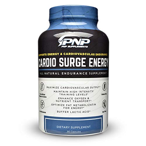 Cardio Surge Energy   Stimulant Free All-Natural Pre-Workout Endurance Supplement   Peak VO2 Max, Endurance and Natural ATP Energy Booster   90 Veggie Capsules