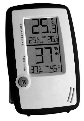 Wetterladen 30.5015.01 Stazione Meteo Termometro-Igrometro-Stazione di Sala Controllo, Bianco/Nero