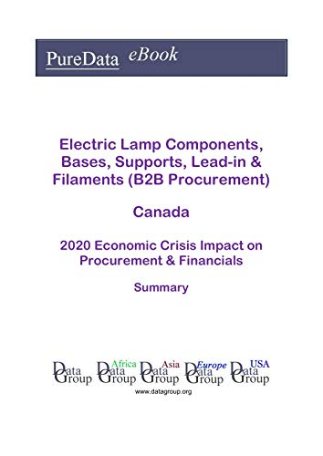 Electric Lamp Components, Bases, Supports, Lead-in & Filaments (B2B Procurement) Canada Summary: 2020 Economic Crisis Impact on Revenues & Financials (English Edition)