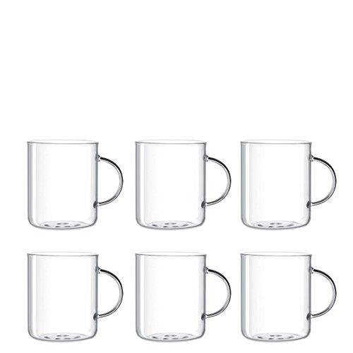 Leonardo Novo Teeglas, 6-er Set, 570 ml, Höhe 10,3 cm, hitzebeständiges Glas, 030537
