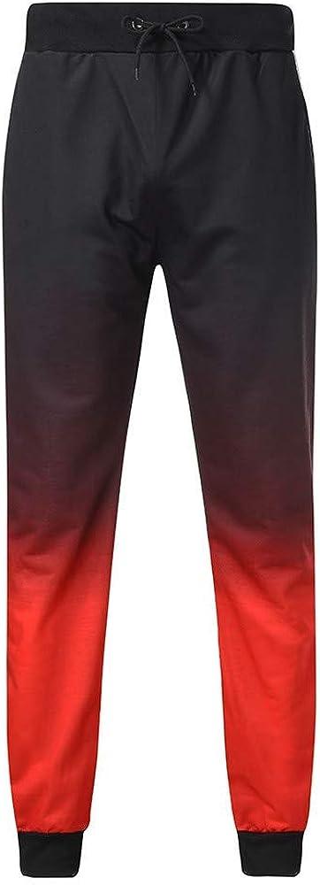 Sport Masculin en Cours Casua Moderne Casual Lâche Pantalons Fitness Tunnelzughose Couture Petit Pantalon Décontracté Rouge