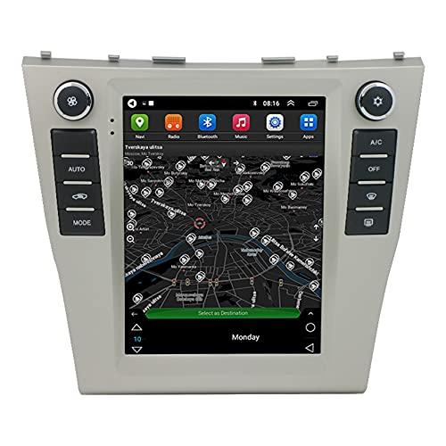 ADMLZQQ Geschikt Voor Toyota Camry 9.7-Inch Autoradio Speler 2.5d Verticaal Scherm GPS Auto Navigatie Touchscreen Radio 2006-2011, Ondersteuning Stuurbediening/FM / Mp5 / WiFi