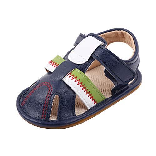 YWLINK Verano Sandalias NiñA NiñO con Punta Cerrada Zapatos En Cuero Zapatillas Velcro Zapatillas De Deporte Al Aire Libre Antideslizante Bebe Chicos Chicas Zapatos Calzado
