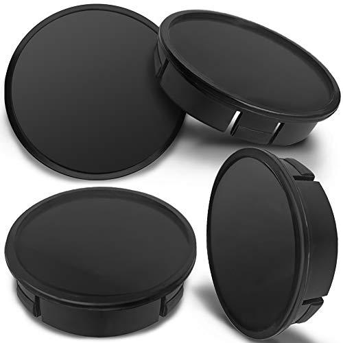 SkinoEu 4 x 60mm Universal Tapas de Rueda de Aleación Centro Centrales Tapacubos para Llantas Coche Tuning Negro CX 0