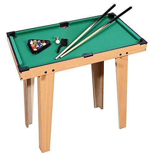 Detazhi Deluxe-hölzerne Mini-Tisch-Top-Pool |Kleines Billard-Spiel mit 16 Harzbällen, 2 Pool-Hinweise, Dreieck-Rack und Kreide |Reisungsfreundliche und Schreibtischspiele