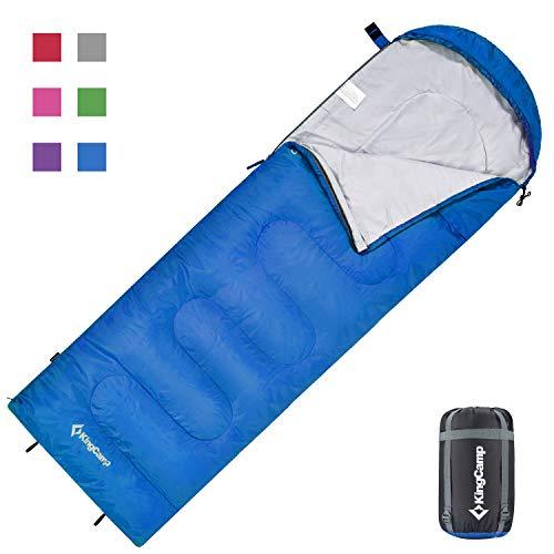 KingCamp Oasis Serie - Saco de Dormir con cabecero (220 x 75 cm)